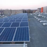 Győr Szent István Egyetem - Tetőre szerelt napelem kivitelezés 250 KW